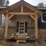 Post and Beam Entrance, St.Lawrence 2018-BNMac Homes