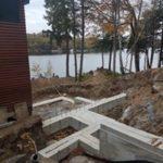 Foundation for Addition, Charleston Lake