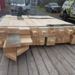 Milled Logs on Site in Gananoque-BNMac Homes