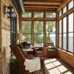 Post and Beam Porch overlooking river