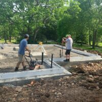 Compacting stone for Concrete Pour-BNMac Homes
